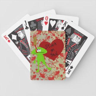 Naipes de la tarjeta del día de San Valentín de Cr