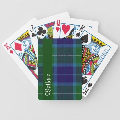 Naipes de la tela escocesa de tartán del clan de W Baraja