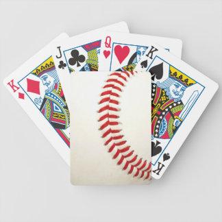 Naipes de la textura del béisbol cartas de juego