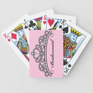 Naipes de la tiara de la dama de honor (rosa) baraja