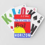 Naipes de la tienda de E-Z con el logotipo del gas Barajas
