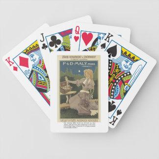 Naipes de la tienda de la joyería y de los cubiert baraja cartas de poker