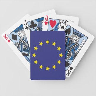 Naipes de la unión europea (azules) barajas