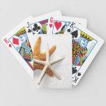 Naipes de las estrellas de mar cartas de juego