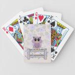 Naipes de las flores del búho y de la correhuela baraja cartas de poker
