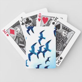 Naipes de las gaviotas cartas de juego