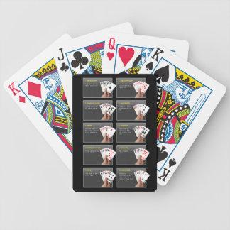 Naipes de las manos de póker barajas de cartas