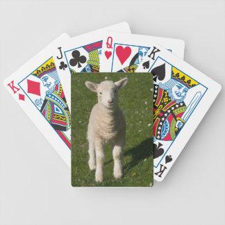 Naipes de las ovejas del cordero del bebé barajas