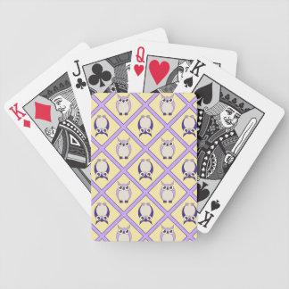 Naipes de los búhos del cuarto de niños - azul baraja cartas de poker