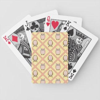 Naipes de los búhos del cuarto de niños - rosa barajas de cartas