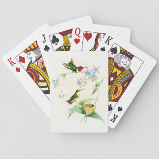 Naipes de los colibríes y de las flores barajas de cartas