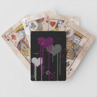Naipes de los corazones y de las estrellas baraja de cartas