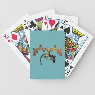 Naipes de los Geckos del desierto Baraja Cartas De Poker