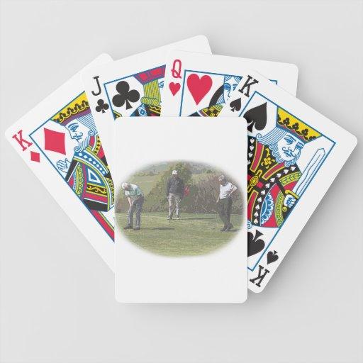 Naipes de los golfistas barajas de cartas