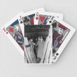 Naipes de los hombres de los monumentos barajas de cartas