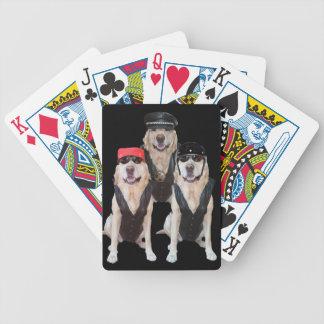 Naipes de los laboratorios del motorista baraja cartas de poker