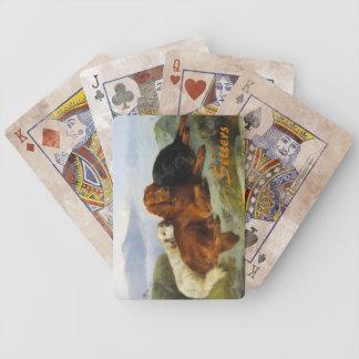 Naipes de los organismos del vintage baraja cartas de poker