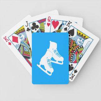 Naipes de los patines de hielo azules cartas de juego