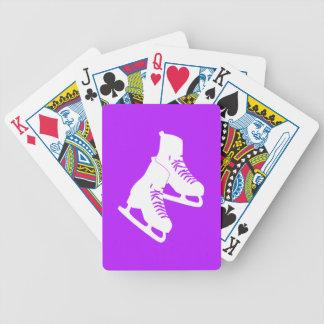 Naipes de los patines de hielo púrpuras cartas de juego