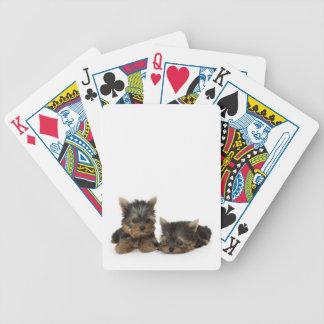 Naipes de los perritos de Yorkshire Terrier Baraja Cartas De Poker