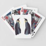 Naipes de los pingüinos de emperador baraja cartas de poker