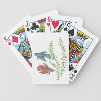 Naipes de los splendens de Betta blancos Baraja Cartas De Poker