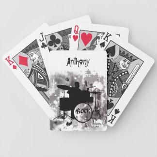 Naipes de los tambores baraja cartas de poker