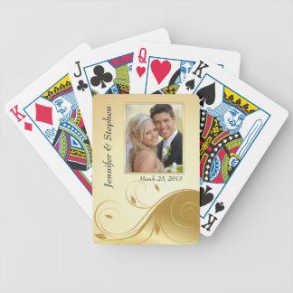 Naipes de lujo de la foto del boda del extracto cartas de juego