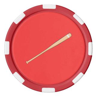 Naipes de madera de encargo del palo del softball fichas de póquer
