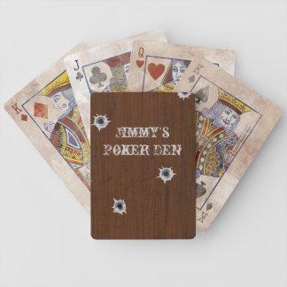 Naipes de madera del póker de la mirada del barajas