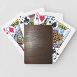 Naipes de madera oscuros baraja de cartas