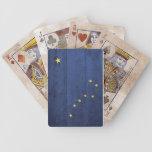 Naipes de madera viejos de la bandera de Alaska Baraja Cartas De Poker