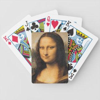 Naipes de Mona Lisa Barajas De Cartas
