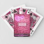 Naipes de neón personalizados de la magdalena baraja de cartas
