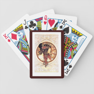 Naipes de Nouveau Mucha del arte Baraja Cartas De Poker