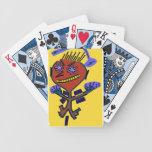naipes de ojos brillantes abstractos barajas de cartas