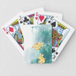 Naipes de oro de los lirios baraja cartas de poker