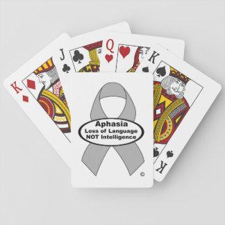 Naipes de plata de la cinta de la afasia barajas de cartas