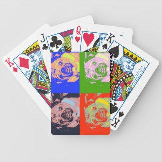 Naipes de PopArt del barro amasado Baraja Cartas De Poker