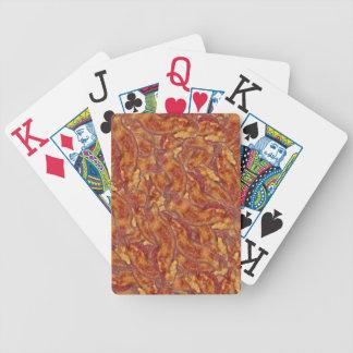 Naipes de punta a punta del tocino baraja cartas de poker