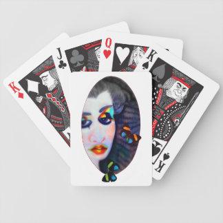 Naipes de señora Butterfly Frame Baraja Cartas De Poker