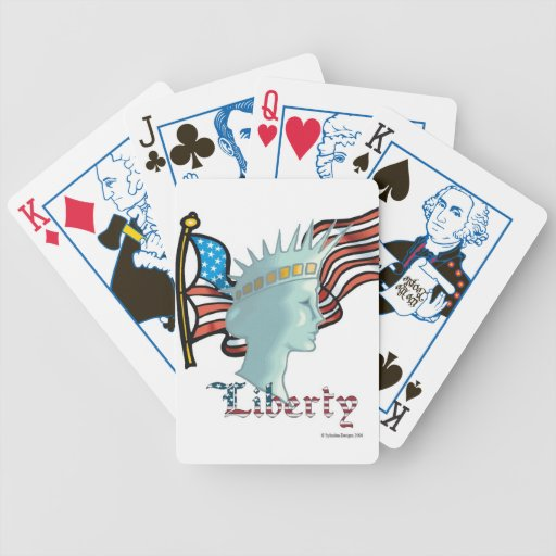 Naipes de señora Liberty Political Baraja Cartas De Poker