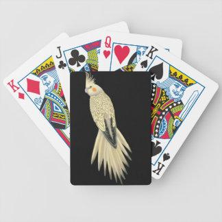 Naipes de varios colores del Cockatiel de la perla Baraja De Cartas