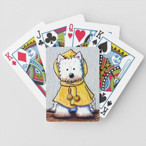Naipes de Westie del día lluvioso Baraja Cartas De Poker