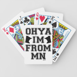 Naipes del acento del manganeso baraja de cartas