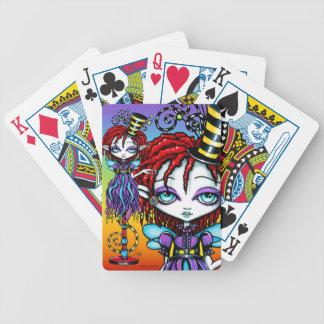 Naipes del acto secundario de circo del palillo de baraja cartas de poker