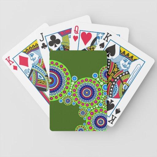 Naipes del adorno del círculo baraja cartas de poker
