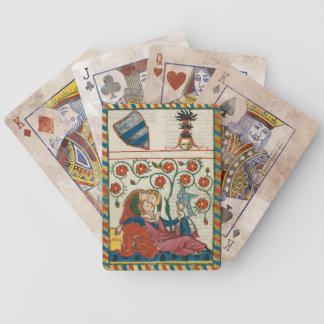 Naipes del amor cortés baraja de cartas