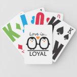 Naipes del amor del pingüino baraja cartas de poker
