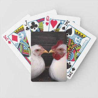 Naipes del amor del pollo cartas de juego